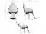 Ceriotti - OLIVER - Barber stolička s hydraulikou.